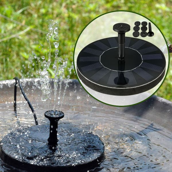 Water Floating Pump Solar Panel Power Fountain Pool Garden