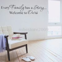 Quote Words Family Story Living Room wall decal quote ...