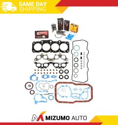 details about fit full gasket set main rod bearings rings 97 99 toyota camry celica 5sfe [ 1000 x 1000 Pixel ]