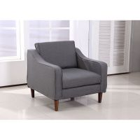 HOMCOM Sofa Single Arm Chair Armrest Couch Seat Dorm Linen ...