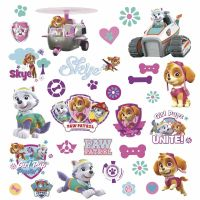 PAW PATROL GIRL PUPS FIGURES Wall Decals Room Decor ...