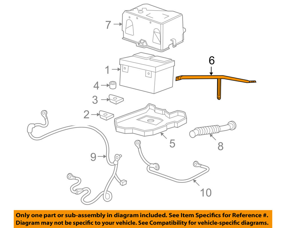 hight resolution of details about gm oem battery tray brace 15839150