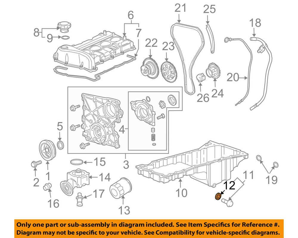 hight resolution of details about gm oem engine oil pan drain plug gasket 3536966