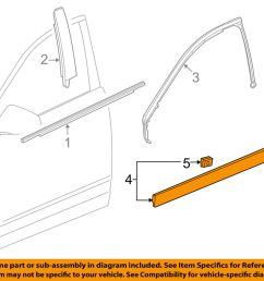 details about cadillac gm oem 10 16 srx front door lower molding trim right 15929260 [ 1000 x 798 Pixel ]