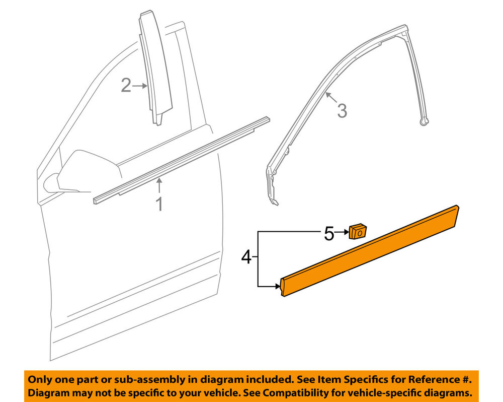 hight resolution of details about cadillac gm oem 10 16 srx front door lower molding trim right 15929260