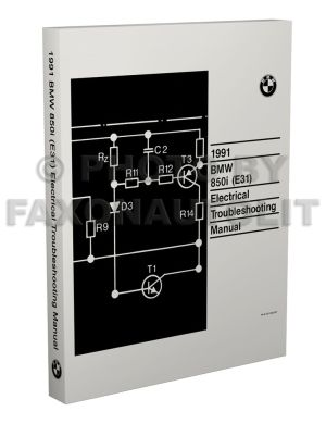 1991 BMW 850i Electrical Troubleshooting Manual Wiring