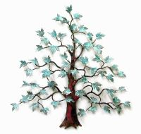 WALL ART - MAGNIFICENT MAPLE TREE METAL WALL SCULPTURE ...