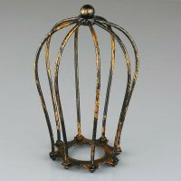 1PC Antique Brass Iron Wire Bulb Cage Lamp Guard Shade