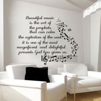 Music Wall Decals Vinyl Notes Decal Butterfly Sticker ...