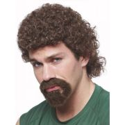 80's curly afro mullet kenny powers