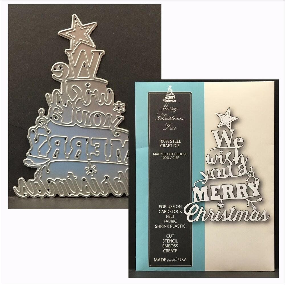 Memory Box Dies MERRY CHRISTMAS TREE Single Die 99298