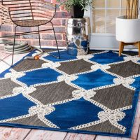 nuLOOM Indoor/ Outdoor Nautical Ropes Porch Blue Rug (5' x ...