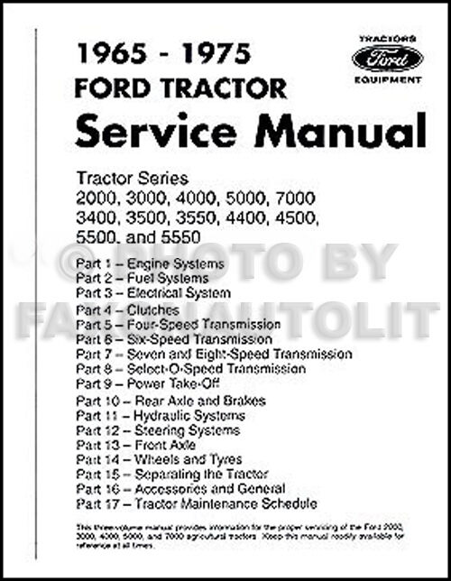300 Utility Tractor Wiring Diagram Ford Tractor Repair Shop Manual 2000 3000 3400 3500 4000