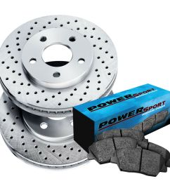 details about fit toyota solara sienna camry front drilled brake rotors ceramic brake pads [ 1000 x 1000 Pixel ]