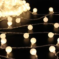 5M/ 16.4Ft Globe Ball Patio String Lights Fairy Warm White ...