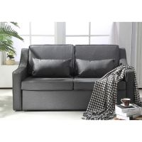 HOMCOM Sofa Bed Couch Lounger Suede Fabric Living Room ...