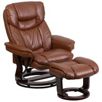 Leather Recliner with Ottoman | eBay