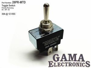 30 Amp Toggle Switch Polarity Reversing DC Motor Control