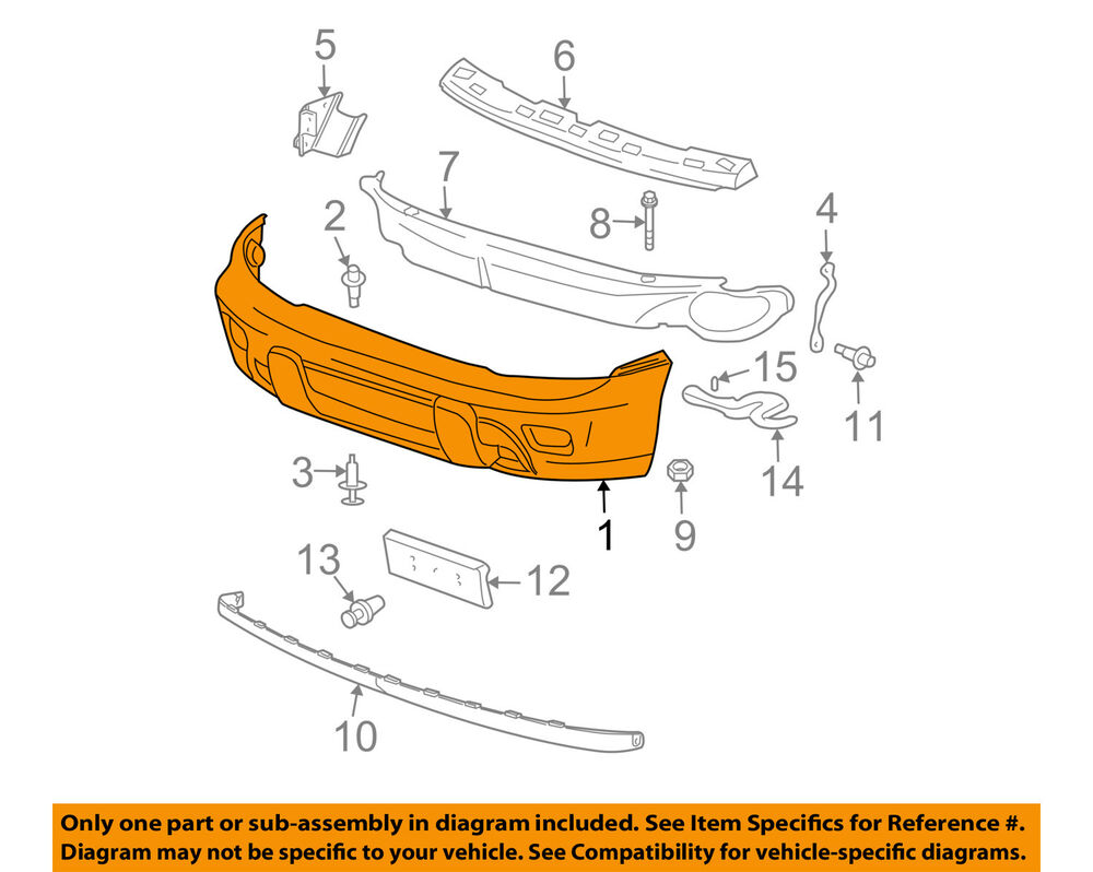 medium resolution of 2004 trailblazer front bumper diagram
