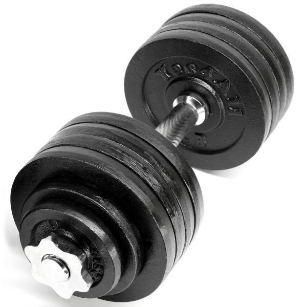 Yes4all Adjustable Dumbbell Set Weight Cap Fitness Gym - 52.5 Lbs Dl2zc
