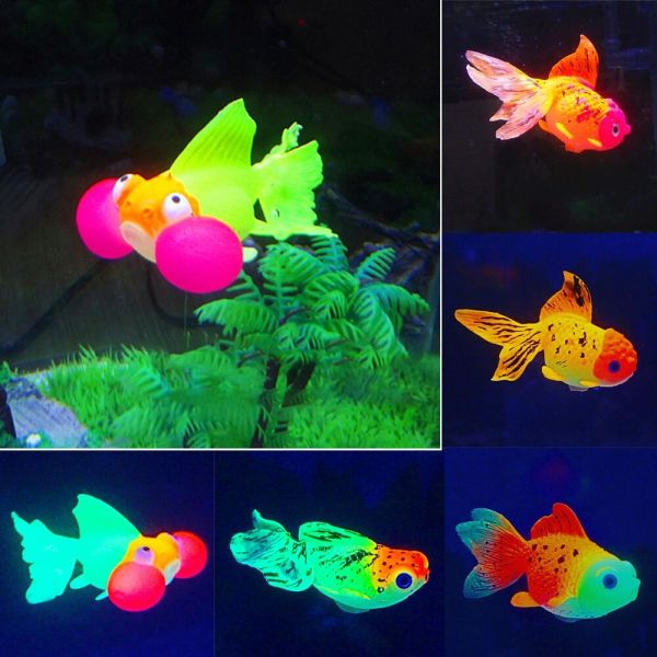 Artificial Fish Tank Floating Glowing Silicone Plastic