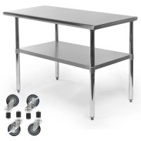 Commercial Stainless Steel Kitchen Food Prep Work Table w ...