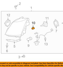 details about cadillac gm oem 07 13 escalade ext bulbs 10351675 [ 1000 x 798 Pixel ]