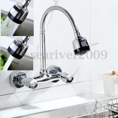 Ebay Kitchen Faucets Counter Resurfacing 360° Pipe Swivel Wall Mount Chrome Pull Down Sink ...