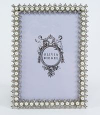 "Olivia Riegel Crystal & Pearl 4x6"" Picture Photo Frame ..."