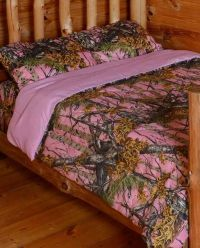 King Size Pink Camo Comforter Set. The Woods Queen Pink