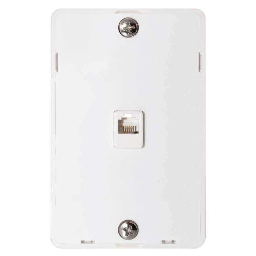 small resolution of details about ge phone jack wall mount plate telephone outlet 6 wire conductor rj11 rj12 white