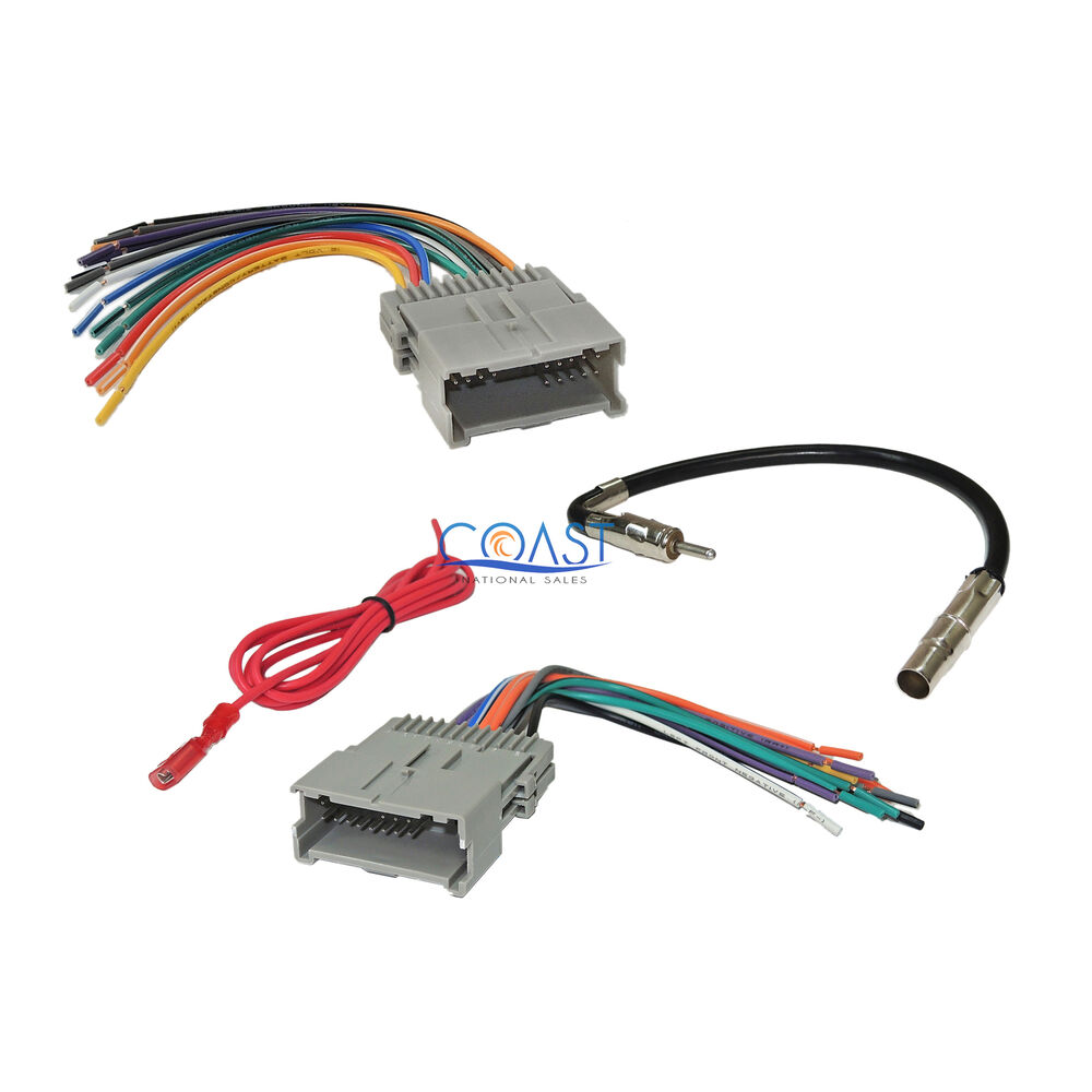 hight resolution of 93 deville radio wiring diagram gm car radio stereo wiring harness antenna combo for 1992