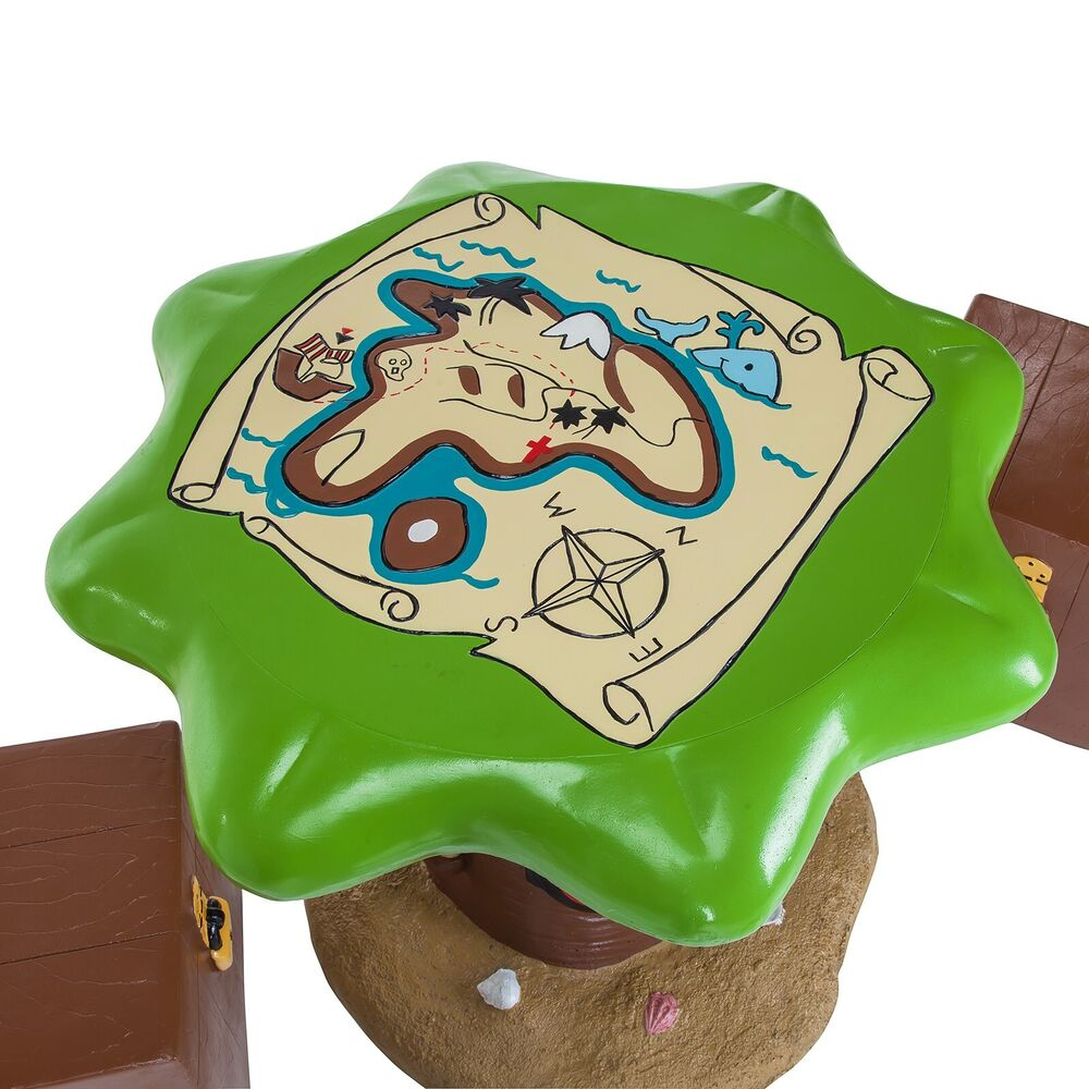 Kids Pirate Outdoor Garden Patio Table  Stools Furniture