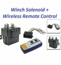 details about 12v contactor heavy duty solenoid relay wireless remote control winch fix warn [ 1000 x 1000 Pixel ]