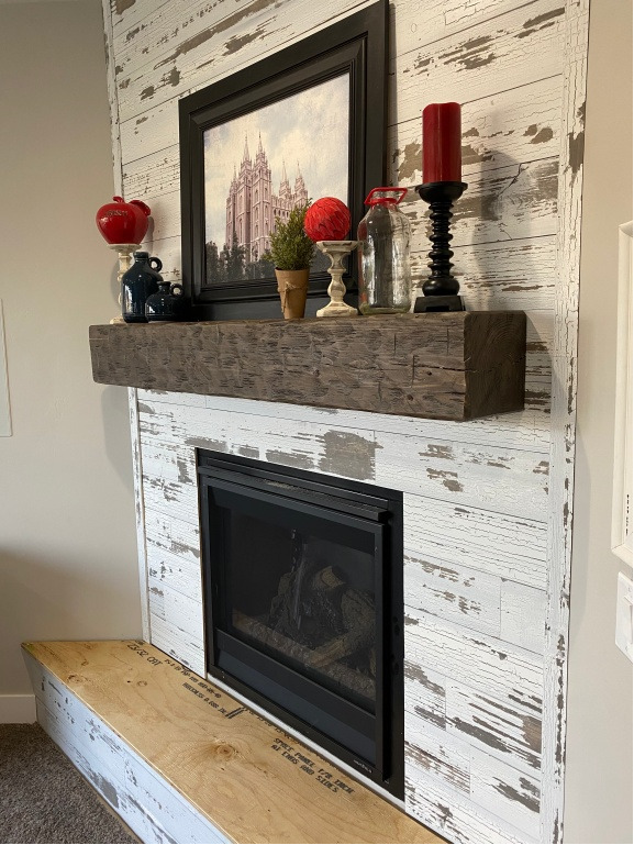 Six Foot Hand Hewn Rustic Barn Beam Style Fireplace Mantel 6 w Mounting Straps  eBay