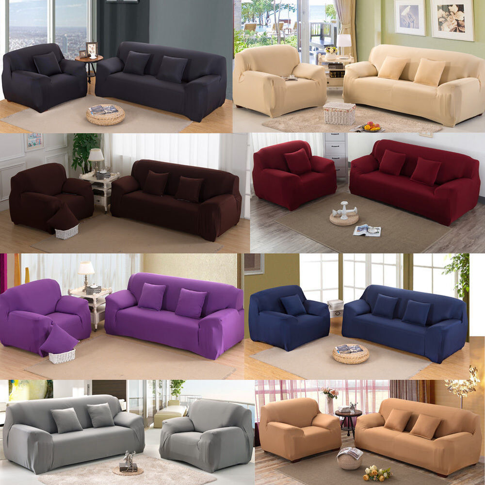 1 2 3 4 Seater Sofa Slipcover Stretch Protector Soft Couch