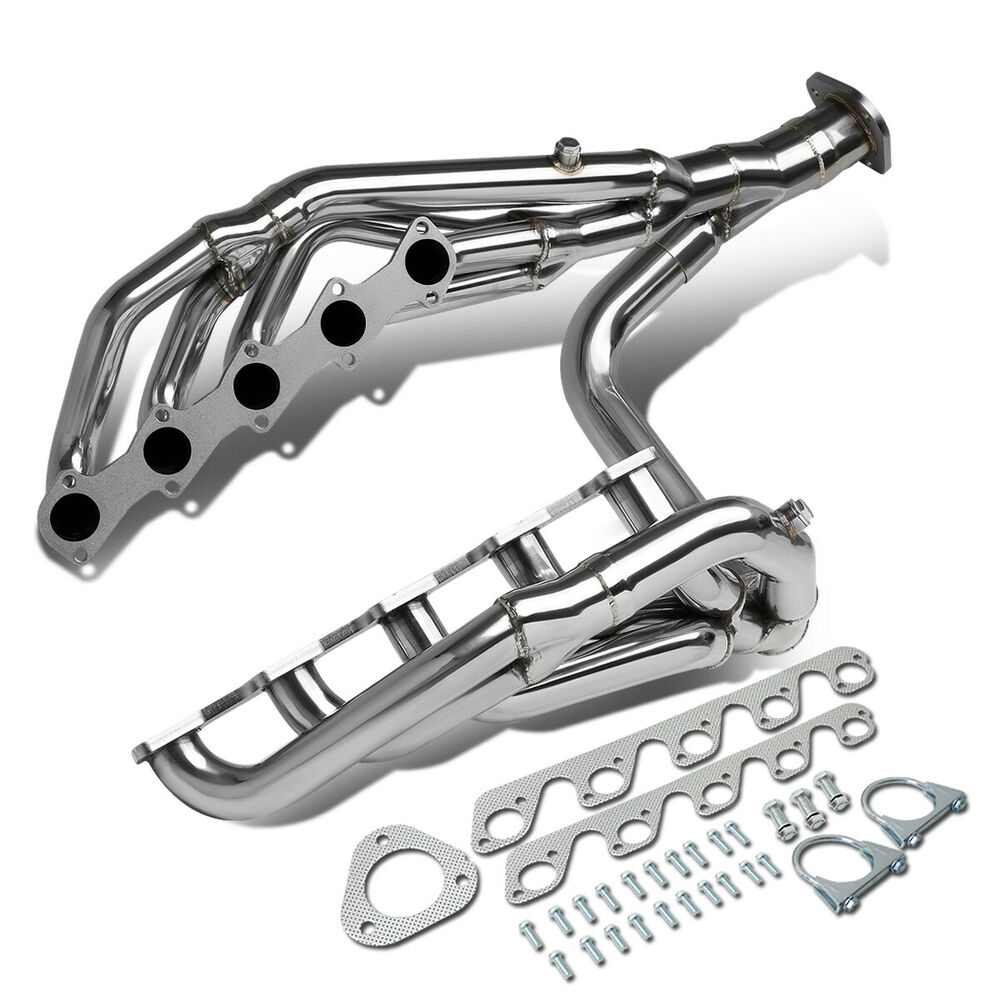 medium resolution of details about fit 99 04 ford f250 f350 sd 6 8l v10 long tube exhaust header manifold w y pipe