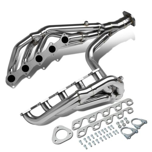 small resolution of details about fit 99 04 ford f250 f350 sd 6 8l v10 long tube exhaust header manifold w y pipe