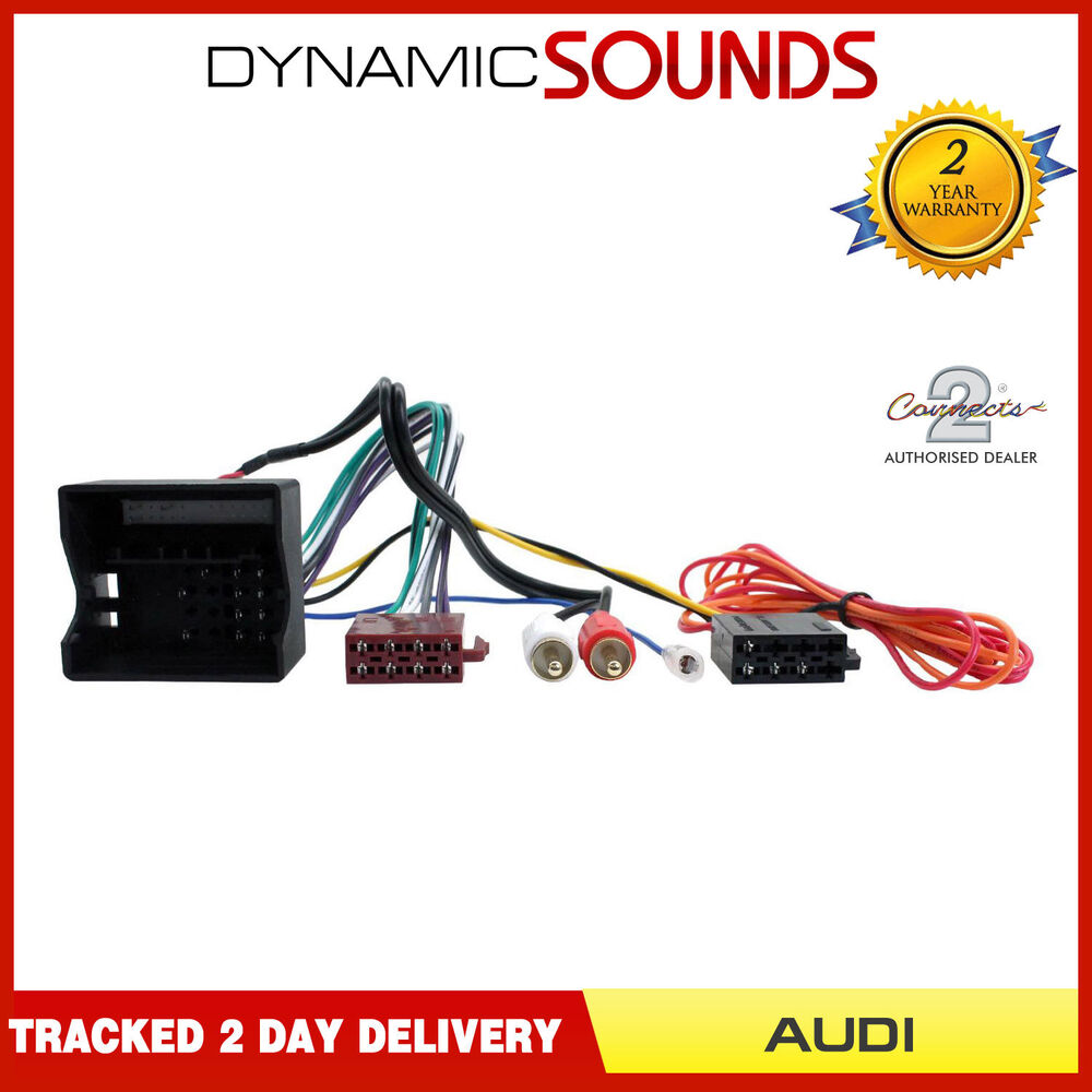 hight resolution of details about ct20au08 half amplified radio wiring harness adaptor for audi a3 a4 a6 tt