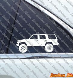 details about 2x lifted offroad suv stickers for chevrolet tahoe gmc yukon 4 door 1st gen [ 1000 x 858 Pixel ]