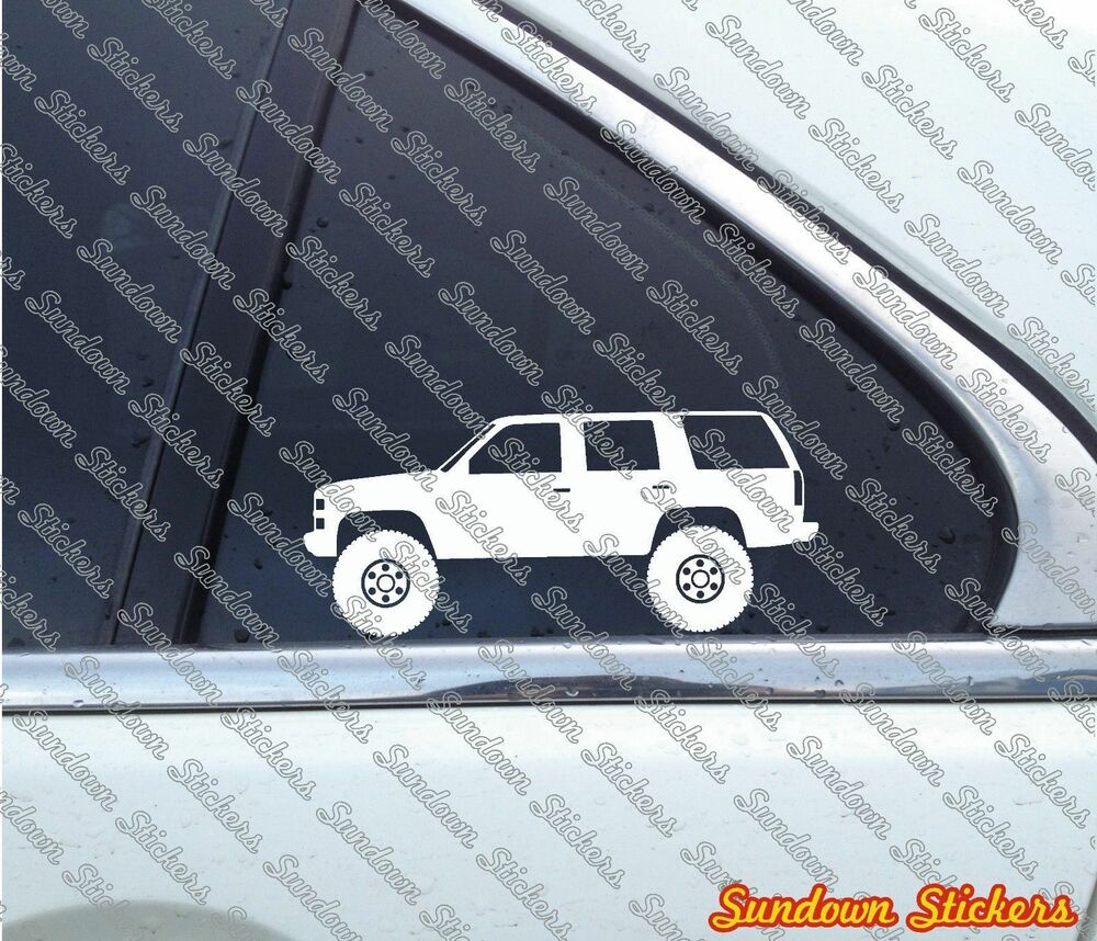 medium resolution of details about 2x lifted offroad suv stickers for chevrolet tahoe gmc yukon 4 door 1st gen