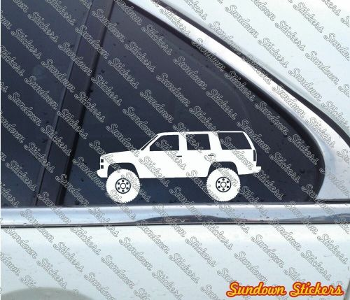 small resolution of details about 2x lifted offroad suv stickers for chevrolet tahoe gmc yukon 4 door 1st gen