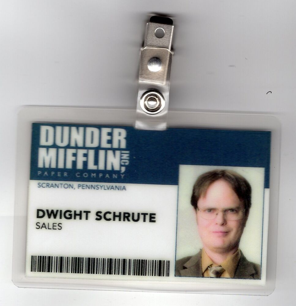 photo relating to Dwight Schrute Id Badge Printable named Dwight Schrute Identification Badge - Calendar year of Refreshing H2o