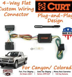 details about 55510 curt 4 way flat trailer wiring connector harness fits canyon colorado [ 1000 x 1000 Pixel ]