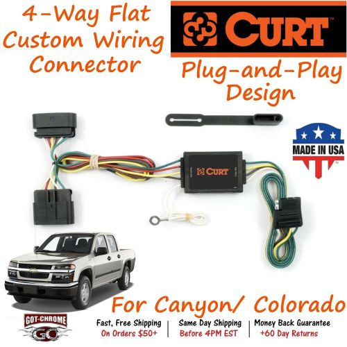 small resolution of details about 55510 curt 4 way flat trailer wiring connector harness fits canyon colorado
