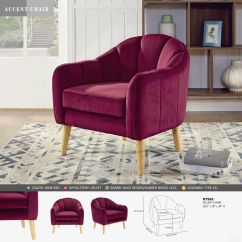 Tub Accent Chair Gym Complaints Barrel Velvet Upholstery Armchair Seat Vintage Club Details About Wine Red Us