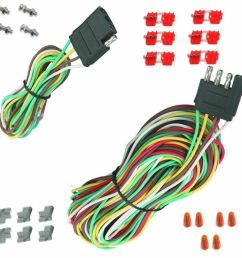 details about 25 4 way trailer wiring connection kit flat wire extension harness boat car rv [ 1000 x 974 Pixel ]