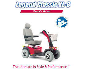 1 X Pride Legend Classic XL8 Mobility Scooter Manual EBay