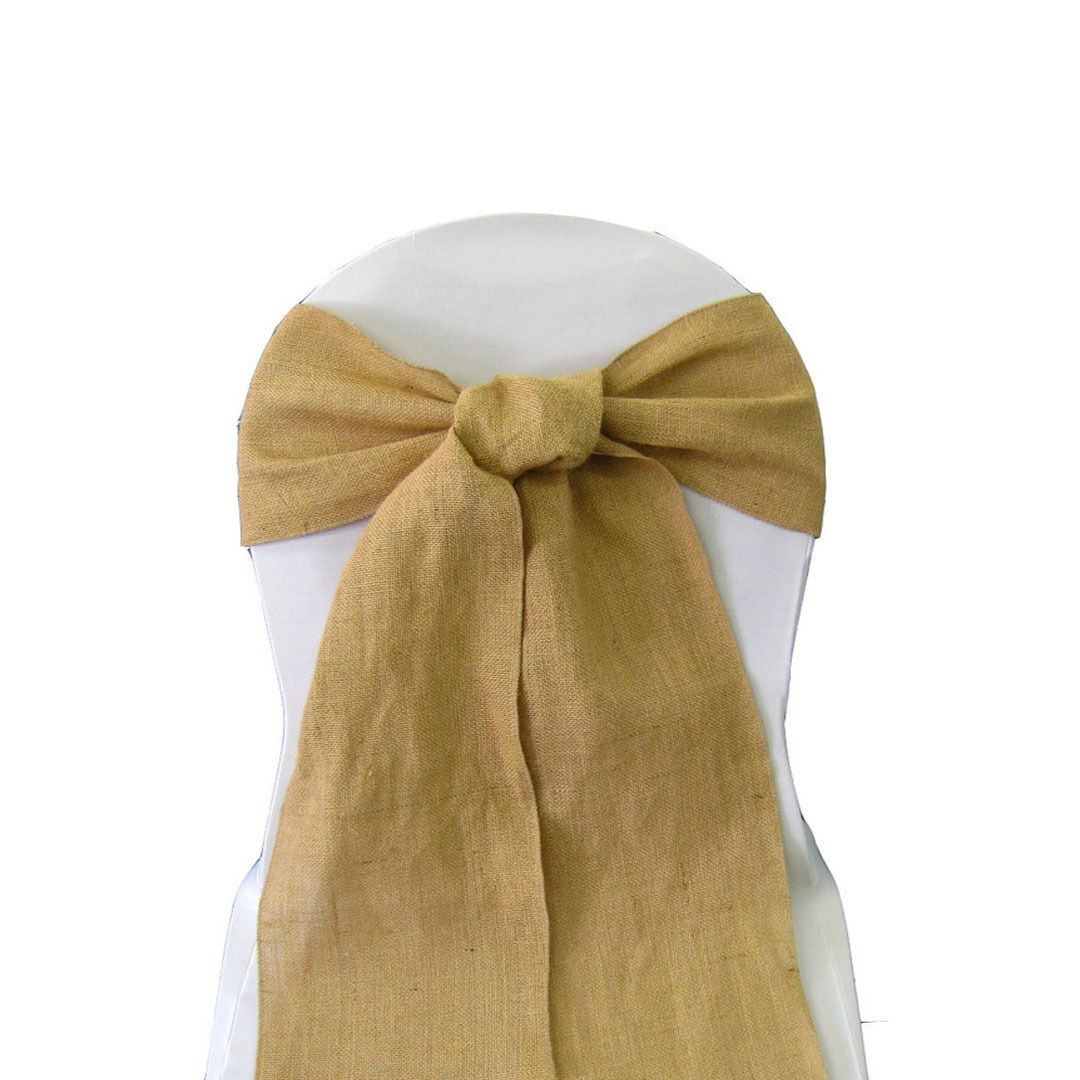 wedding chair sash cover rentals waco 150 burlap sashes 6 quotx108 quot event 100 fine