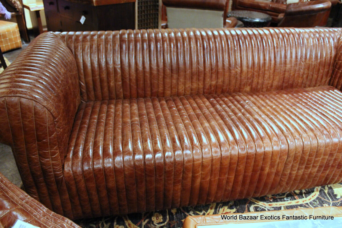 classic italian leather sofa standard 100 quot vintage cigar brown soft